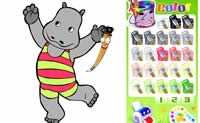 Happy Hippo Coloring